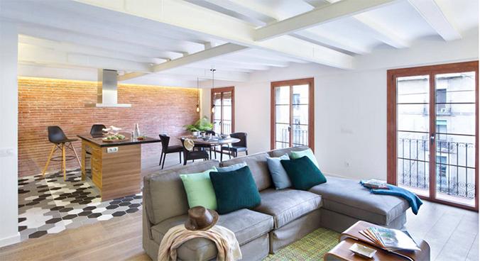 5 maneras de separar espacios sin necesidad de tabiques for Cocina unida a salon